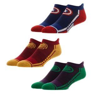 Avengers 3 Pack Men's Athletic Ankle Socks MARVEL